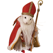 3.5 Inch R. John Wright Mouse Doll St. Nicholas Father Christmas Series