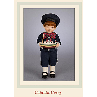 7.5 Inch Captain Corey Artist Doll by R. John Wright