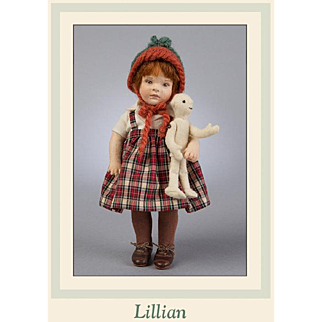 7.5 Inch R. John Wright Lillian Artist Doll Limited to 140 Pieces Artist Proof Signed by RJW!