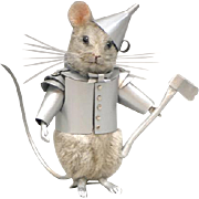 """3"""" R. John Wright """"Tin Man"""" Mouse from Wizard of Oz Limited Edition 200 Pieces"""