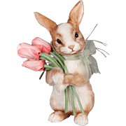 """11"""" R. John Wright """"Tulip"""" Easter Bunny Limited Edition 250"""