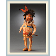 "8.5"" R. John Wright Palmer Cox Brownie ""The Indian"" Character Doll 250 Pieces"