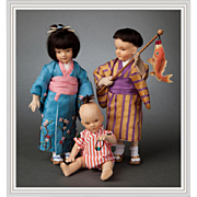 Full Set R. John Wright Japanese Children Around the World Series Dolls 100 Pieces