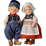 "6.5"" R. John Wright Gerda & Johan Holland Dolls Around The World Series Limited Edition of 100 Sets"