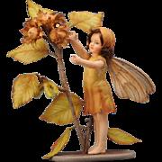 R. John Wright Flower Fairies of Autumn Hazel-Nut Fairy Doll 150 Pieces Limited Edition