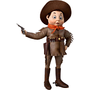 "9"" The Cowboy Brownie by R. John Wright Artist Doll Palmer Cox Illustration"