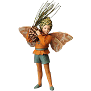 11.5 inch Pine Tree Fairy from the R. John Wright Flower Fairies of the Winter