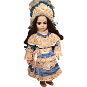 French Silk dress and hat for Bru Jne or for Jumeau size 9 French Bebe dress doll not included 19.6 in