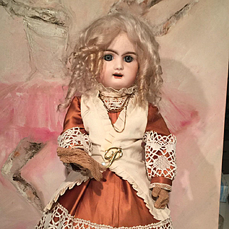 Original Rare Rabery Delphieu antique bisque head French doll 1890 Tall 55 cm 20inch