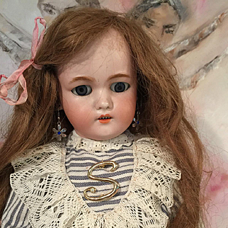 Perfect Antique Simon Halbig Porcelaine Bisque Head doll Tall 55 cm 21 inch