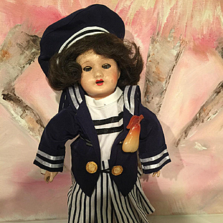 BLEUETTE doll marked France Unis France composition head circa 1926 27 cm
