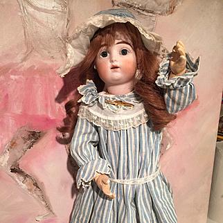 Antique ORIGINAL Gaultier, Francois Doll 1890 French Porcelain Bisque Head 46 cm/18 inch