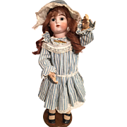 Antique ORIGINAL Gaultier, Francois Doll 1890 French Porcelain Bisque Head 46 cm/18 inch
