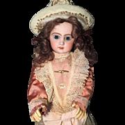Antique ORIGINAL French  Tete Jumeau Porcelaine Bisque Head 1890