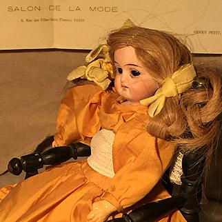 Miniature Mignonette Simon Halbig bisque head Baby Doll size 19 cm