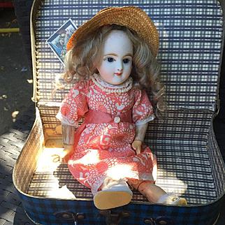 Antique ORIGINAL French Closed Mouth Eden Bebe François Gaultier doll  Bisque Head 1890 33сm