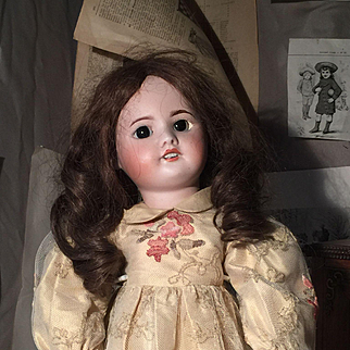 Antique ORIGINAL SFBJ 60 Paris Doll bisque Head 50 cm