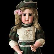 Rare French PARIS Tete Jumeau closed mouth Bisque Head doll 65 cm 25,5 inches