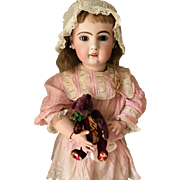 French PARIS Tete Jumeau closed mouth  Bisque Head doll 85 cm 33,5 inch size 16