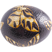Mid Century Modern Nils Thorsson Art Pottery Ostrich Egg Butterfly Decorated Baca Paperweight for Aluminia — Royal Copenhagen