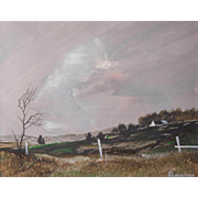 LISTED ARTIST Don Hornberger (American) Landscape Painting — Acrylic on Mylar