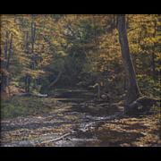 "LISTED ARTIST Robert J. Seifert (American) ""Majestic Hideaway"" Landscape Painting, New Hope PA School  — Oil on Canvas"