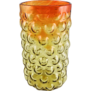 "BLENKO Art Glass Amberina ""Bubble"" Vase by Iconic Designer Wayne Husted. c. 1960 — Mid Century Modern"