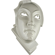 "RARE Rosenthal Art Deco Wall Mask Entitled ""Day"" by Gerhard Schliepstein (German, 1886 - 1963) — c.1924"