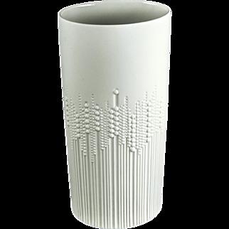 Rosenthal Studio Line By Finnish Artist Tapio Wirkkala Tall Oval Shaped Vase, 1950s, German — Mid Century