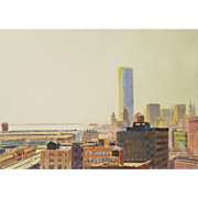"Ray Ciarrochhi (American, 1933) Original Monoprint ""Manhattan Afternoon"" WELL LISTED, Collected and Exhibited — Abstract-Expressionist"