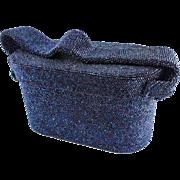 Art Deco Carnival Glass Blue Purple Beaded Purse/Handbag — Hand Beaded c.1940s