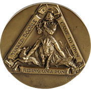 """Yankee Doodle"" Scuptural Solid Bronze Medallion by Marcel Jovine — Society of Medalists — 0124/2500"