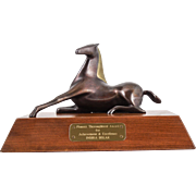 "Loet Vanderveen (Dutch, 1921-2015) Bronze Sculpture ""Horse, Jewel Elegant"" Award Trophy INDIRA BOLAR — WELL LISTED & Collected"
