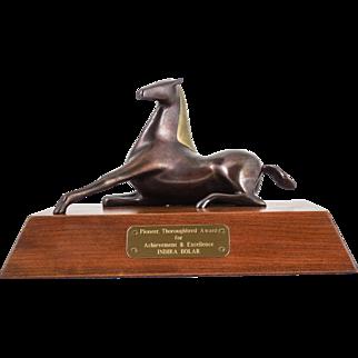 "Loet Vanderveen (Dutch, 1921-2015) Bronze Sculpture ""Horse, Jewel Elegant"" Award Trophy INDIRA BOLAR — WELL LISTED & Collected"