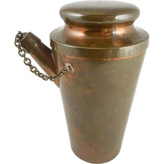 Solid Bronze & Sterling Silver Cocktail / Drink Shaker by Jos. Heinrich (German, 1866-)  Paris / New York — c. 1910