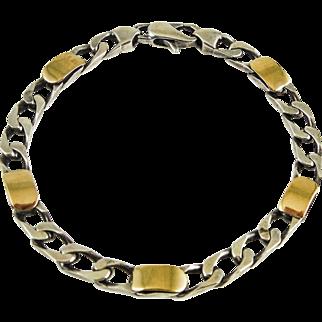Tiffany & Co. 18K Gold & 925 Sterling Silver Link Bracelet — Vintage — FINE
