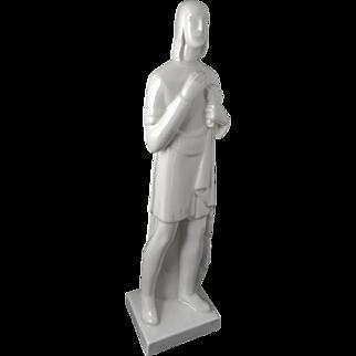 Art Deco Figural Sculpture by Geza De Vegh for Lamberton Scammell China — c. 1930s — TALL & FINE