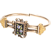 1879 Victorian Micromosaic Vester Traverse Band Clamp Bracelet