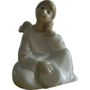 "Vintage Lladro ""Angel with Tambourine"""