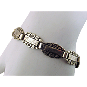 1944 Sterling Silver Forget Me Not Friendship Bracelet