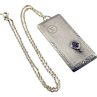 Vintage BPOE Sterling Silver Membership Rules Card or Money Case by AMCO