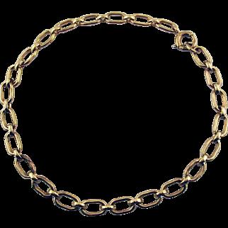 Vintage 10 Karat Yellow Gold Starter Charm Bracelet by Binder Brothers