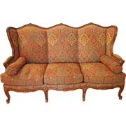 Wonderful 1930s walnut Louis XV style settee