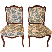 Pair of 19th century French Louis XV style side chairs