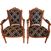 Louis XVI style 19th century arm chairs