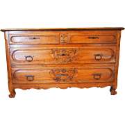 Provencal Louis XV period chest of drawers