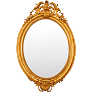 Monumental 19th century Napoleon III oval mirror