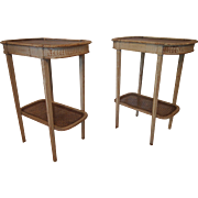 Pair of French Louis XVI style 19th century white painted side tables