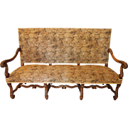 Louis XIII style settee in walnut
