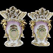 """Pair of """"Old Paris"""" Vases"""